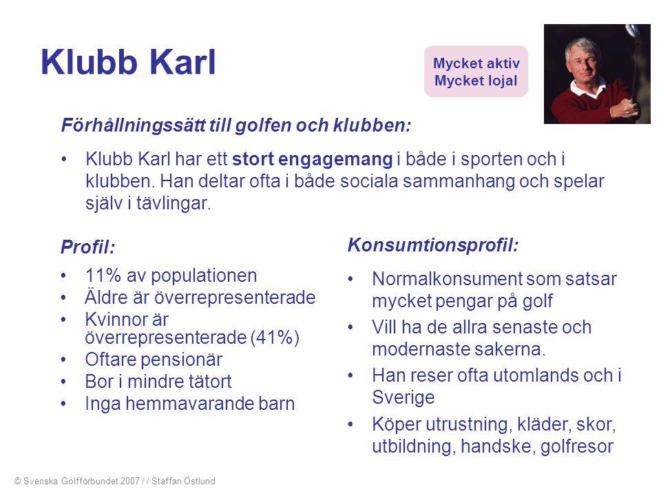 Klubb Karl Förhållningssätt till golfen och klubben: