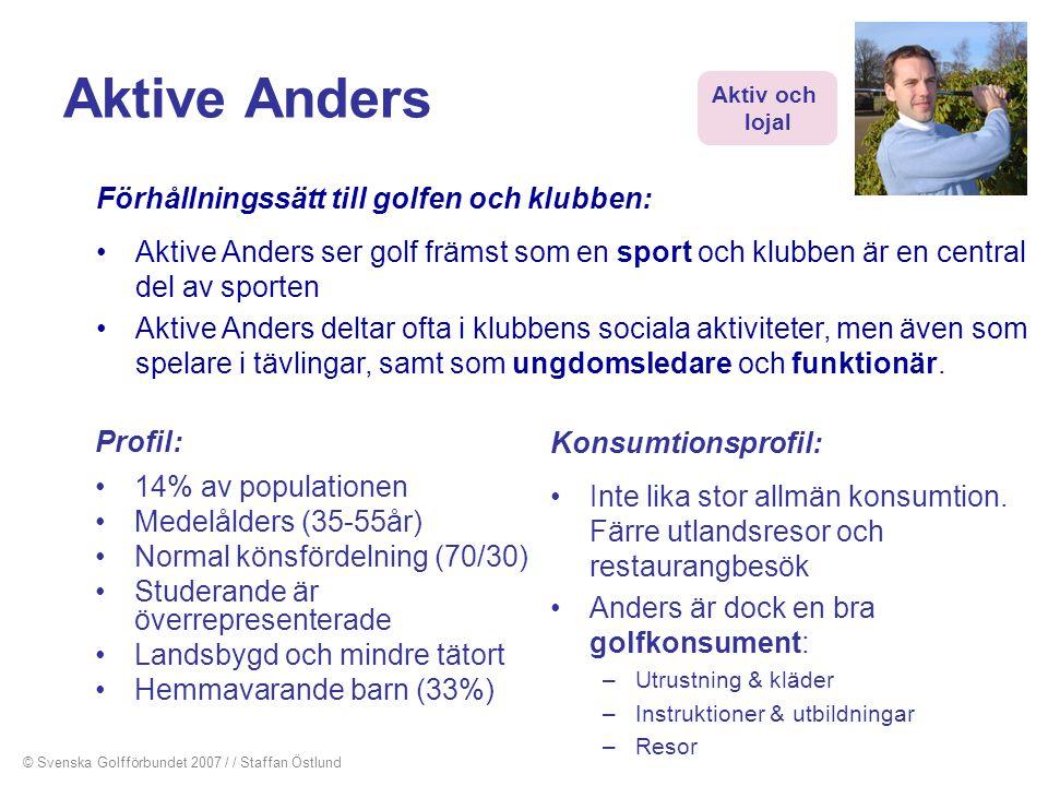 Aktive Anders Förhållningssätt till golfen och klubben: