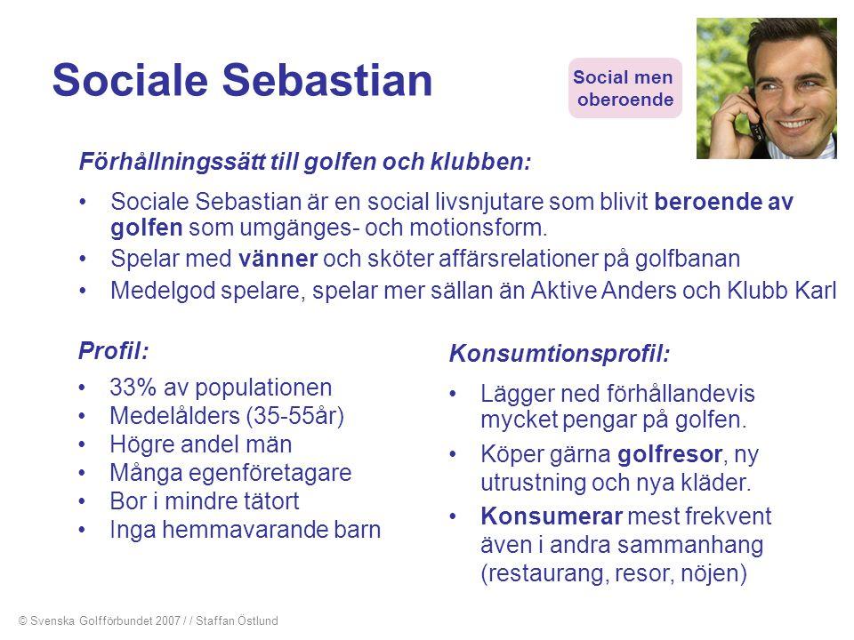 Sociale Sebastian Förhållningssätt till golfen och klubben: