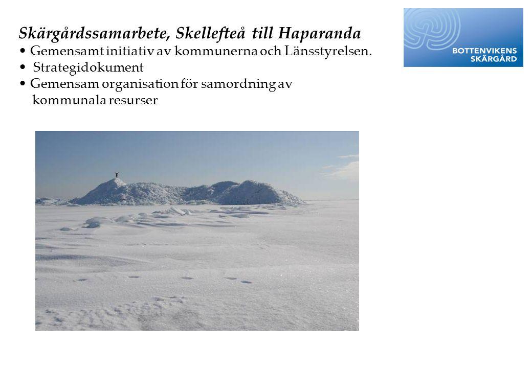 Skärgårdssamarbete, Skellefteå till Haparanda
