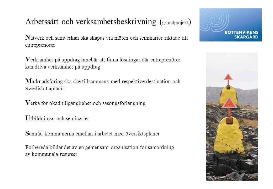 Arbetssätt och verksamhetsbeskrivning (grundprojekt)