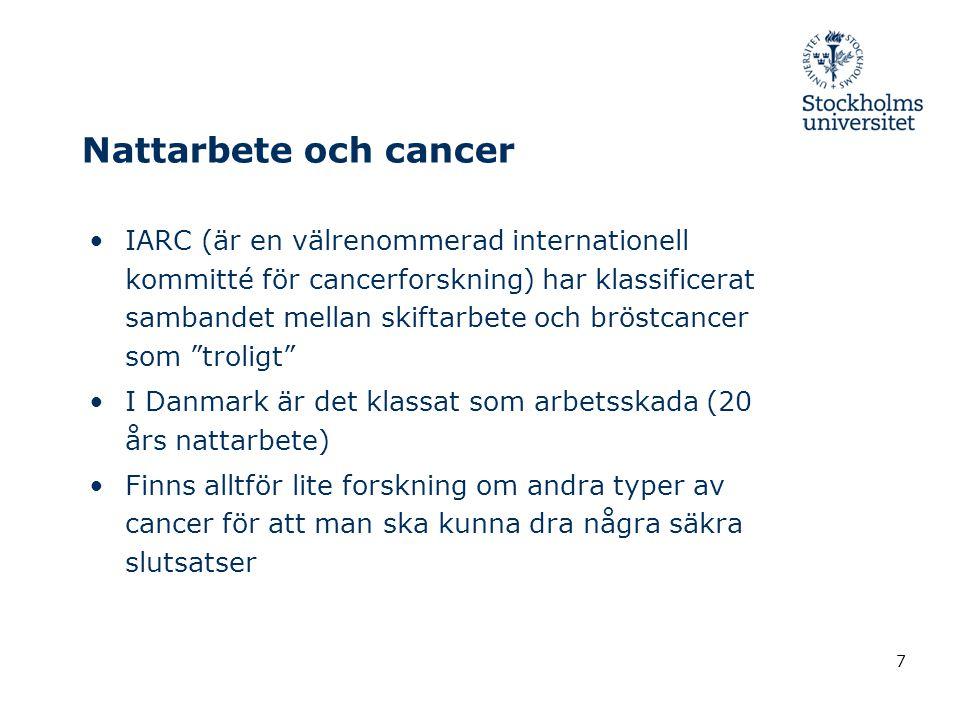 Nattarbete och cancer