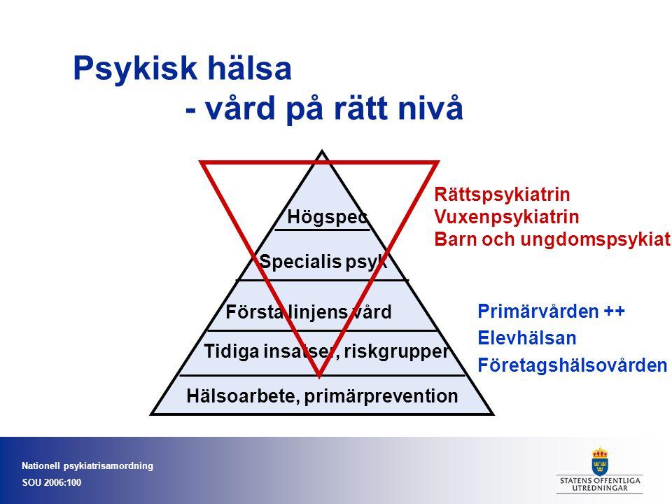 Psykisk hälsa - vård på rätt nivå