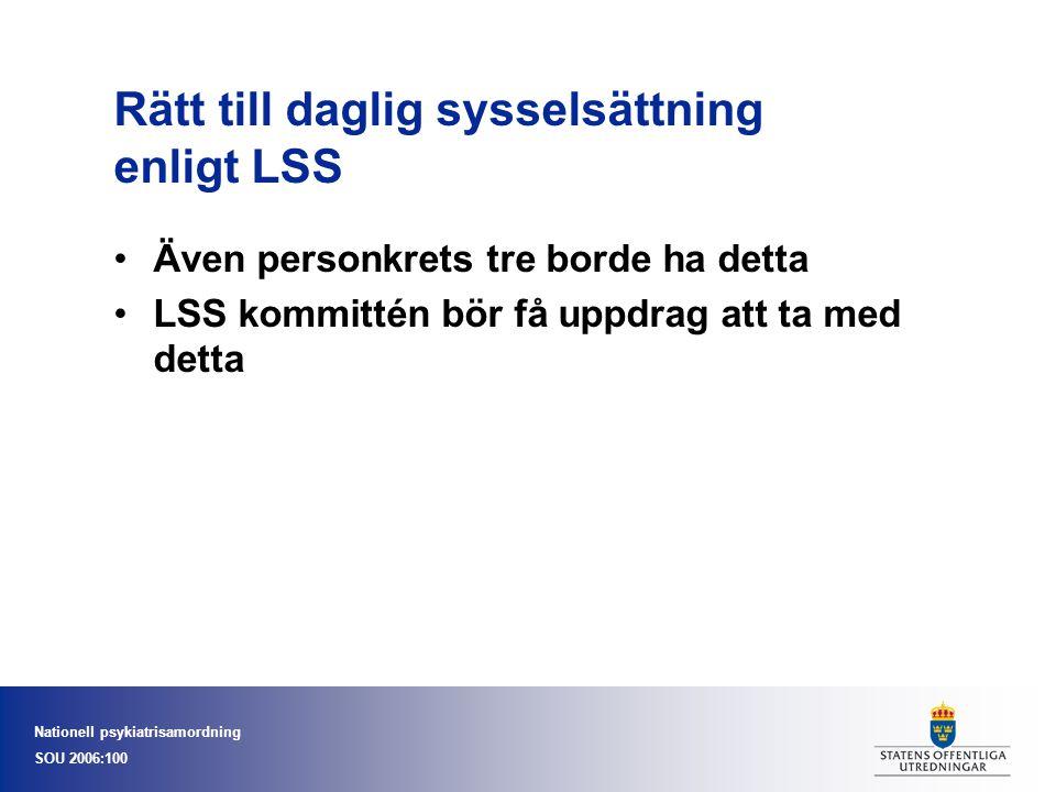 Rätt till daglig sysselsättning enligt LSS