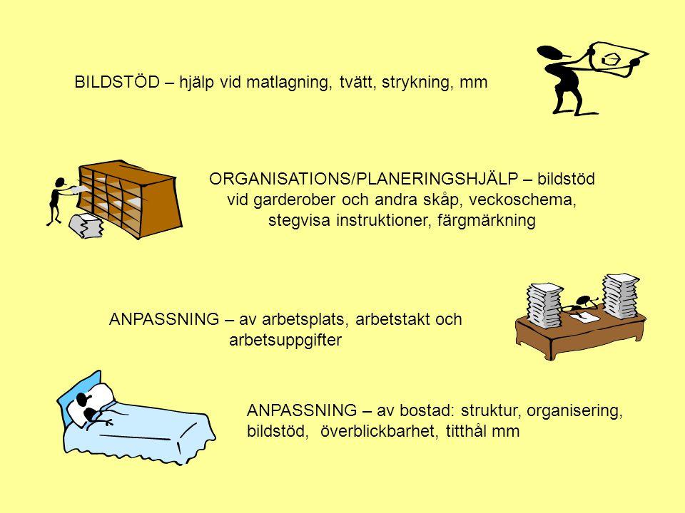 ANPASSNING – av arbetsplats, arbetstakt och arbetsuppgifter
