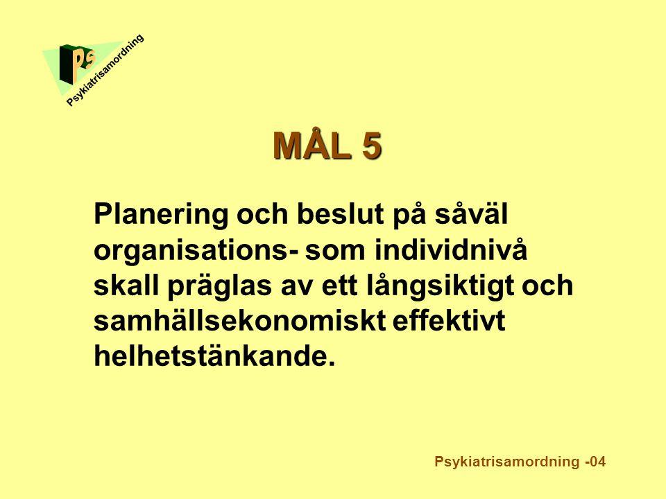 Ps Psykiatrisamordning. MÅL 5.