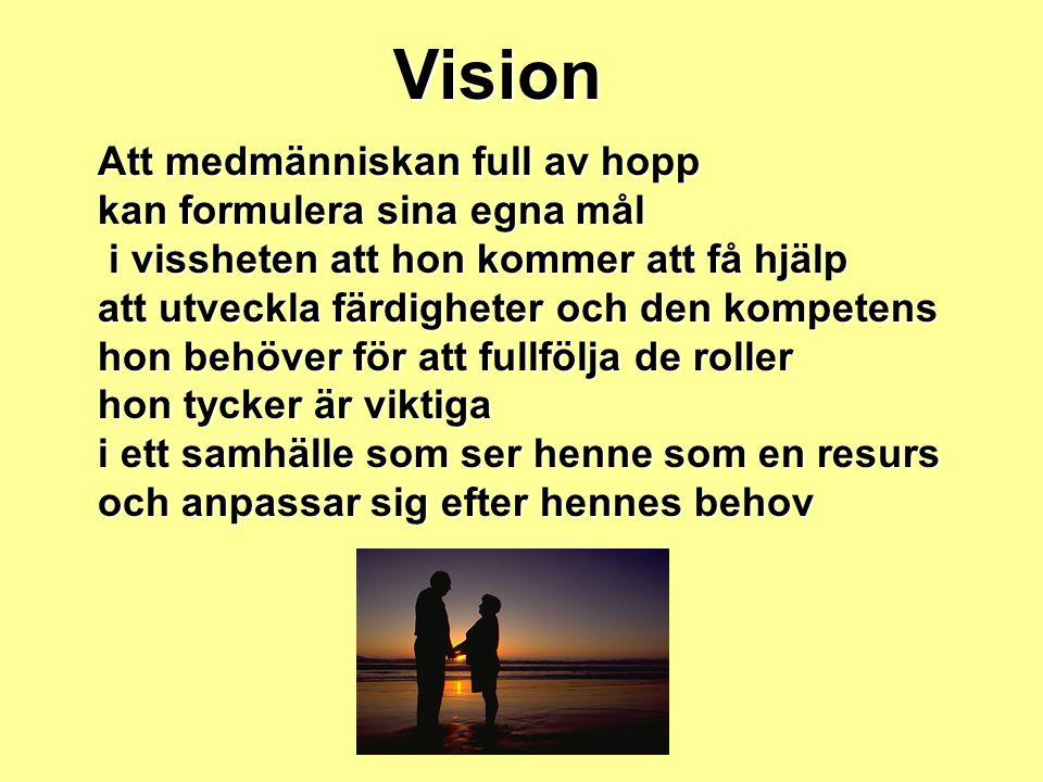 Vision Att medmänniskan full av hopp kan formulera sina egna mål