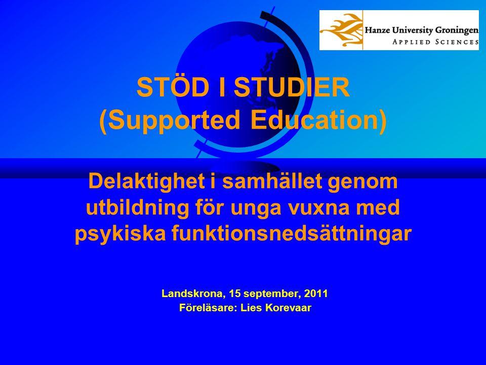Landskrona, 15 september, 2011 Föreläsare: Lies Korevaar
