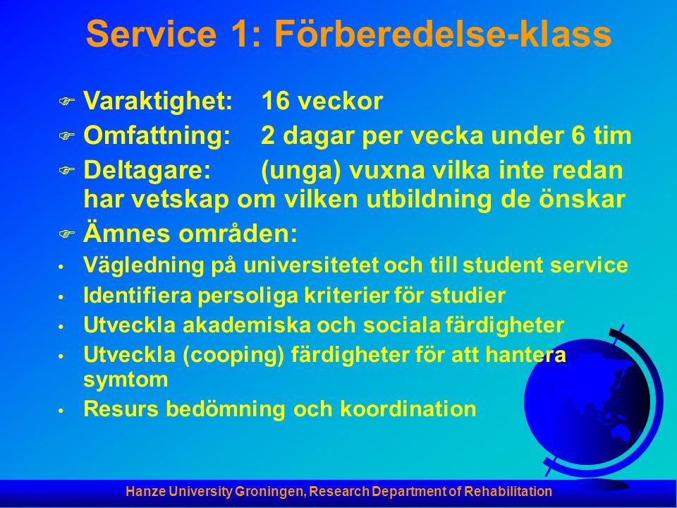 Service 1: Förberedelse-klass
