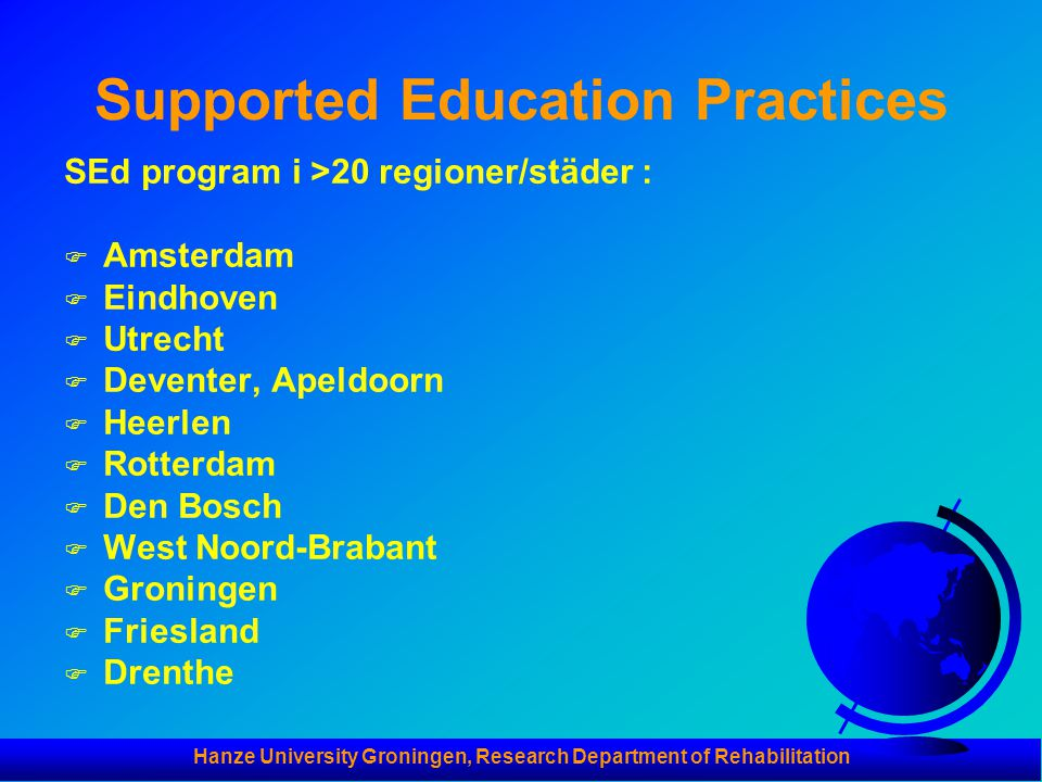 Supported Education Practices
