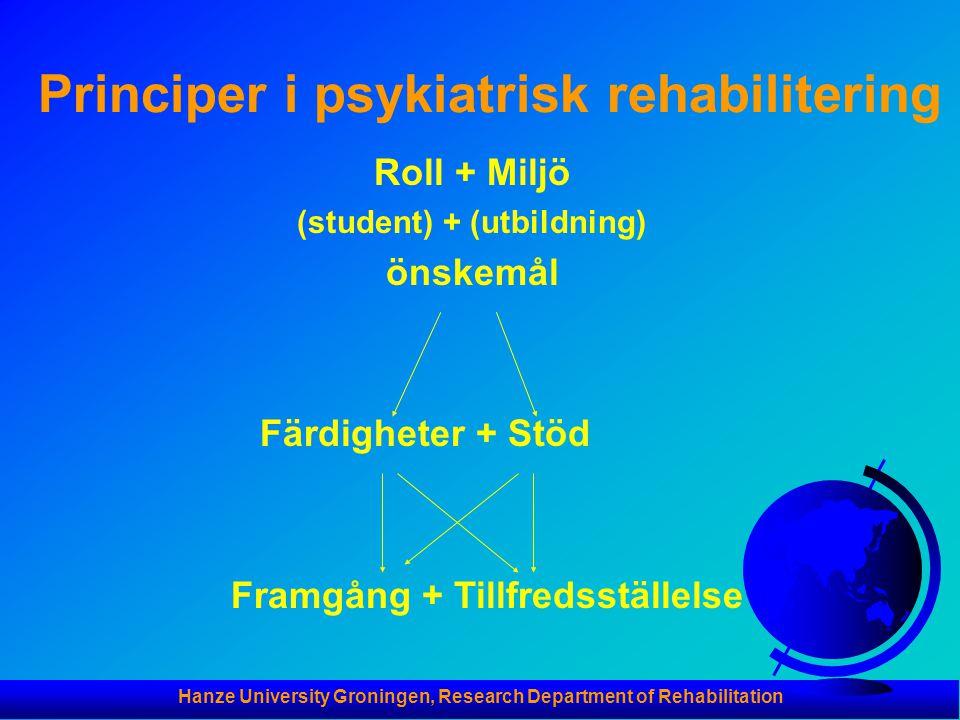 Principer i psykiatrisk rehabilitering