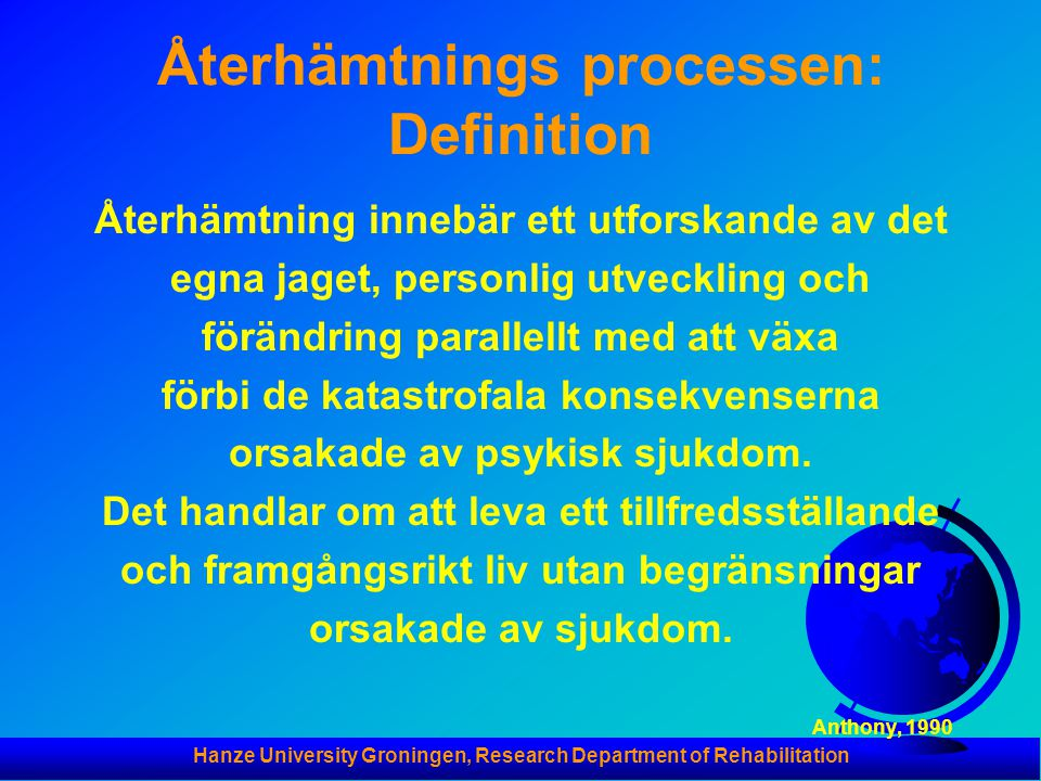 Återhämtnings processen: Definition