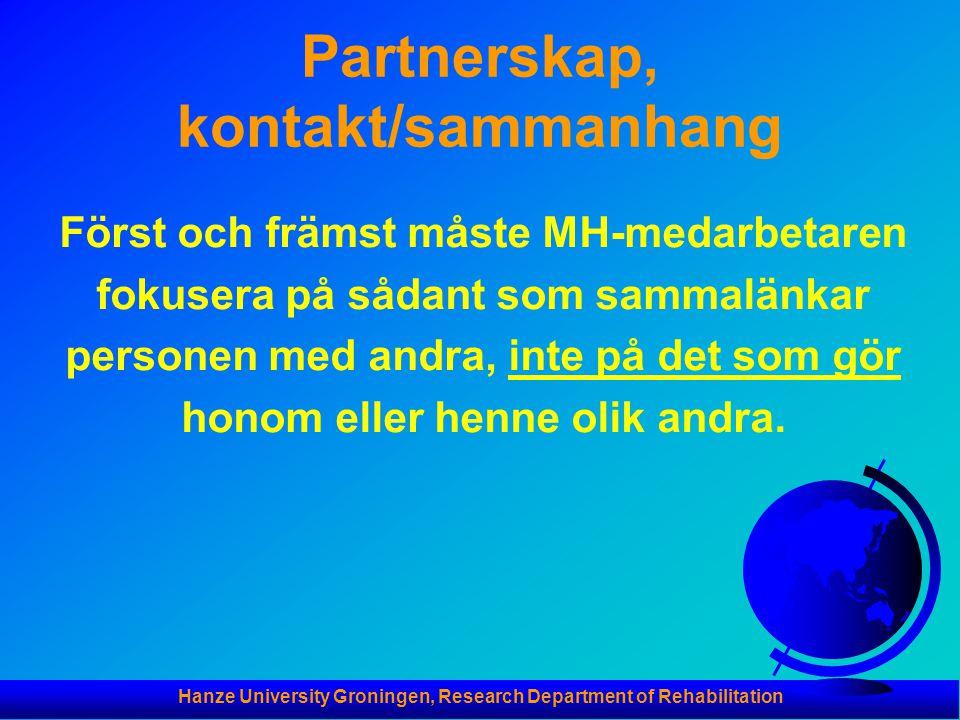 Partnerskap, kontakt/sammanhang