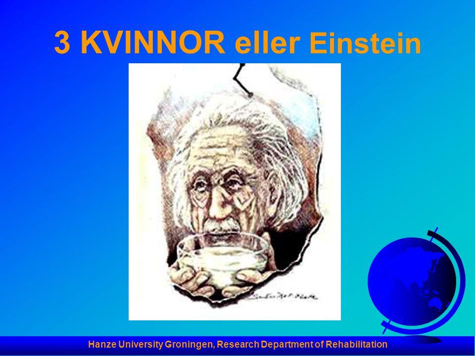 3 KVINNOR eller Einstein