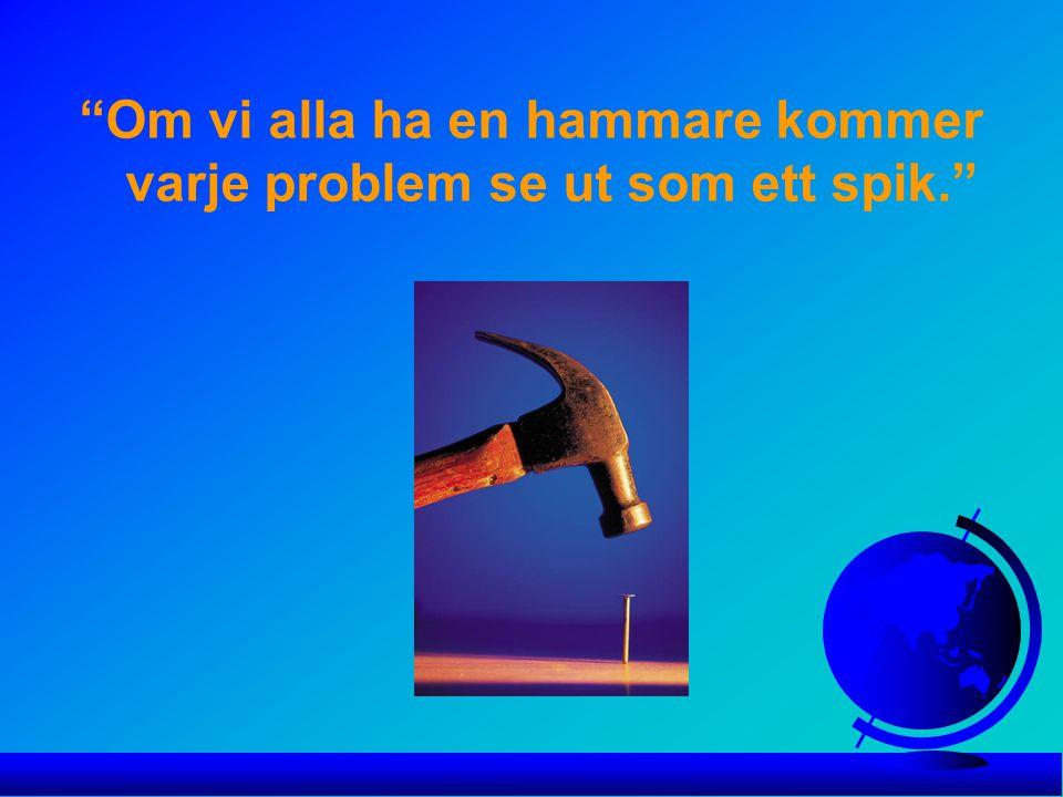 Om vi alla ha en hammare kommer varje problem se ut som ett spik.