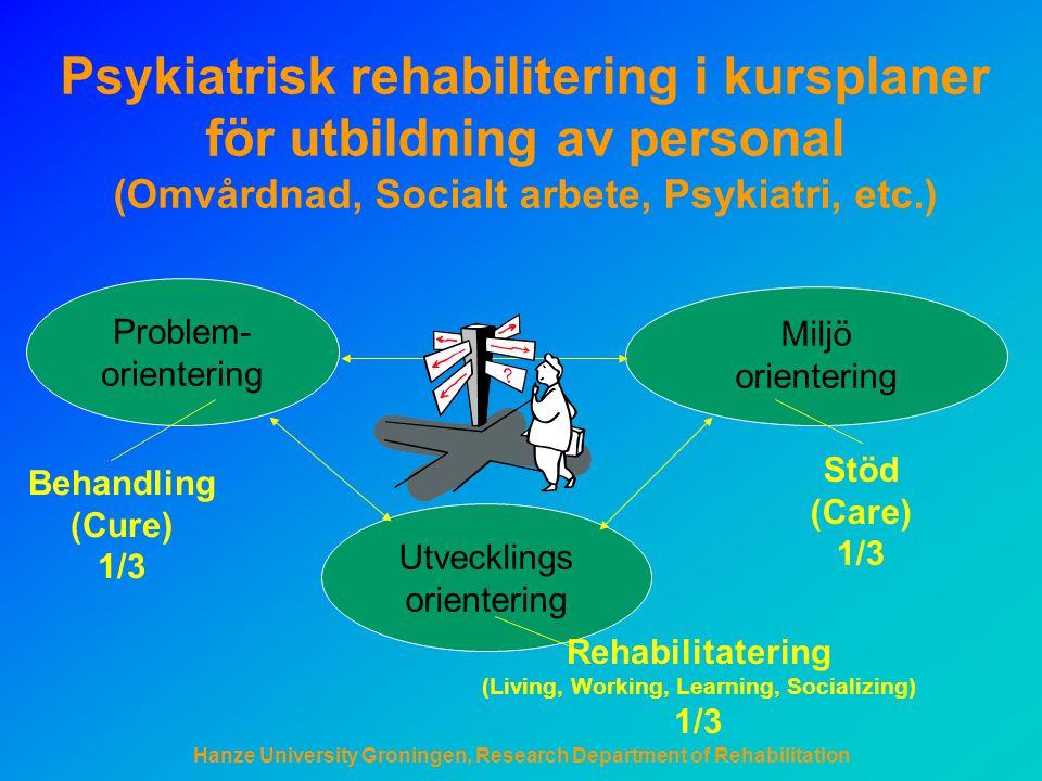 Psykiatrisk rehabilitering i kursplaner för utbildning av personal