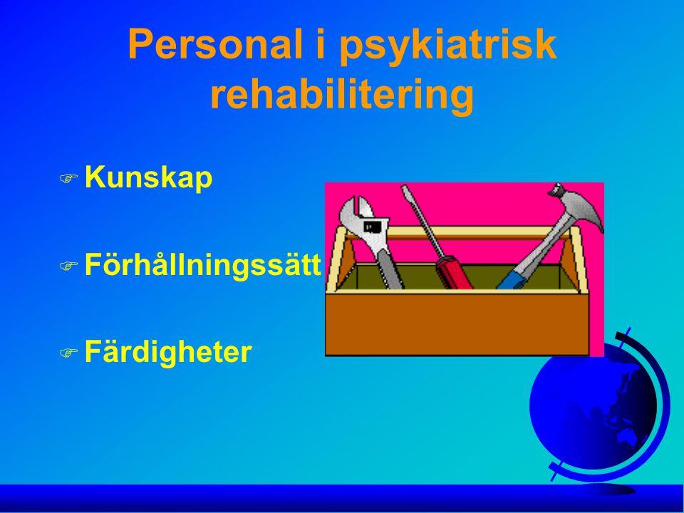 Personal i psykiatrisk rehabilitering