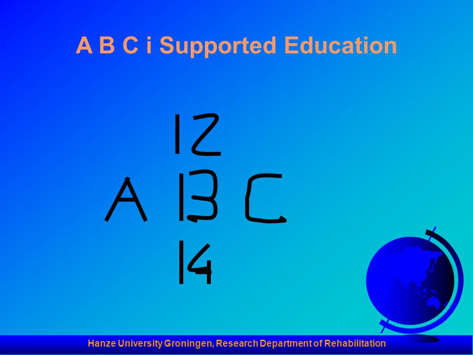 A B C i Supported Education