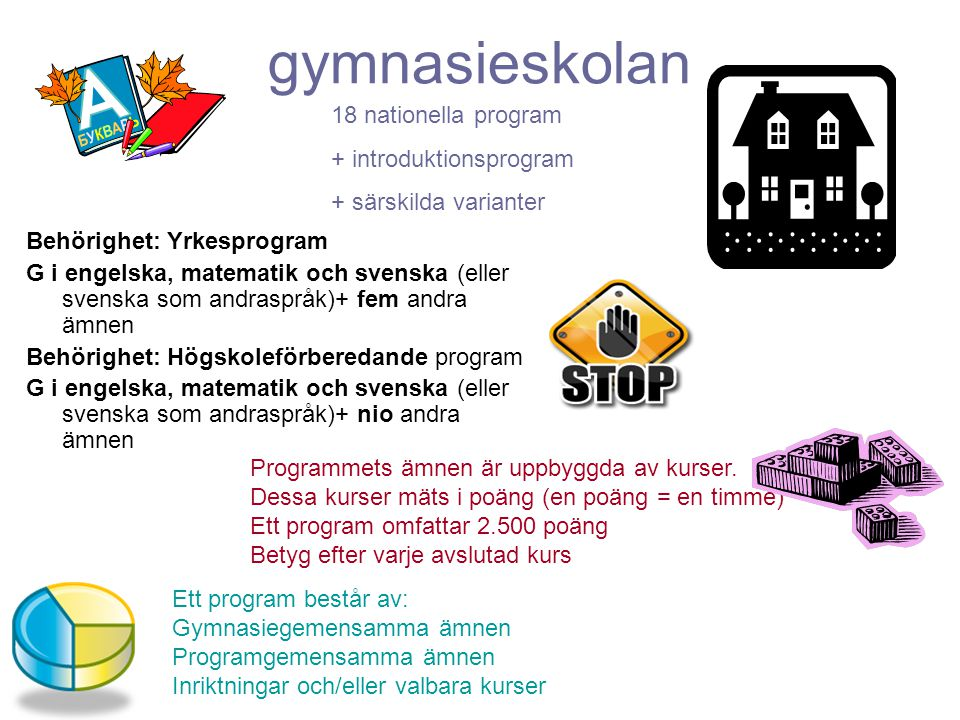 gymnasieskolan 18 nationella program + introduktionsprogram