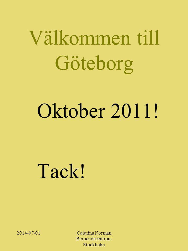 Välkommen till Göteborg