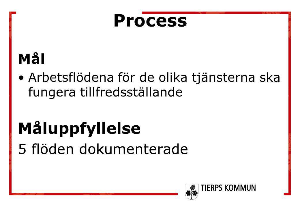 Process Måluppfyllelse Mål 5 flöden dokumenterade