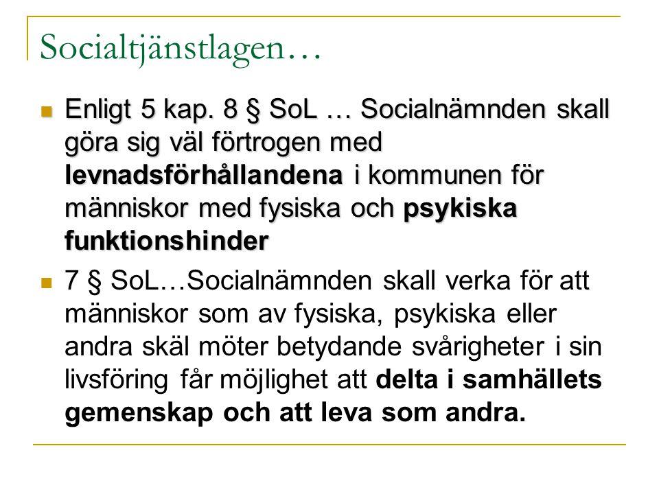 Socialtjänstlagen…