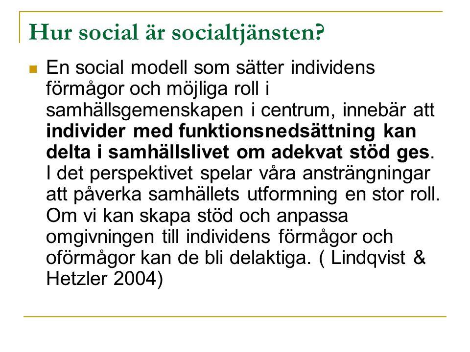 Hur social är socialtjänsten