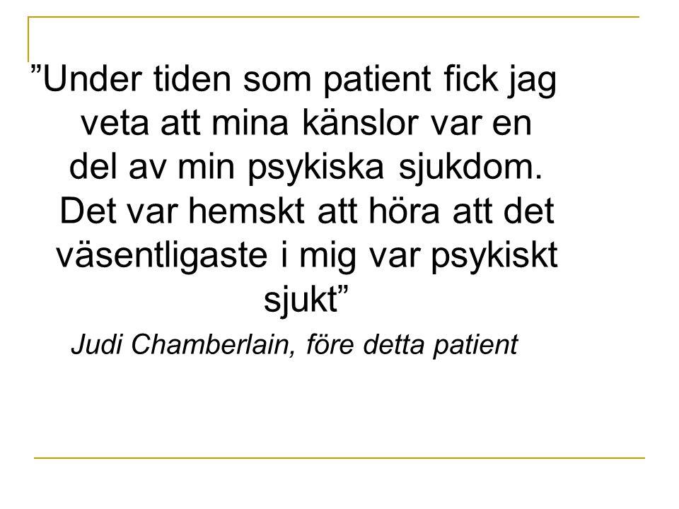 Judi Chamberlain, före detta patient