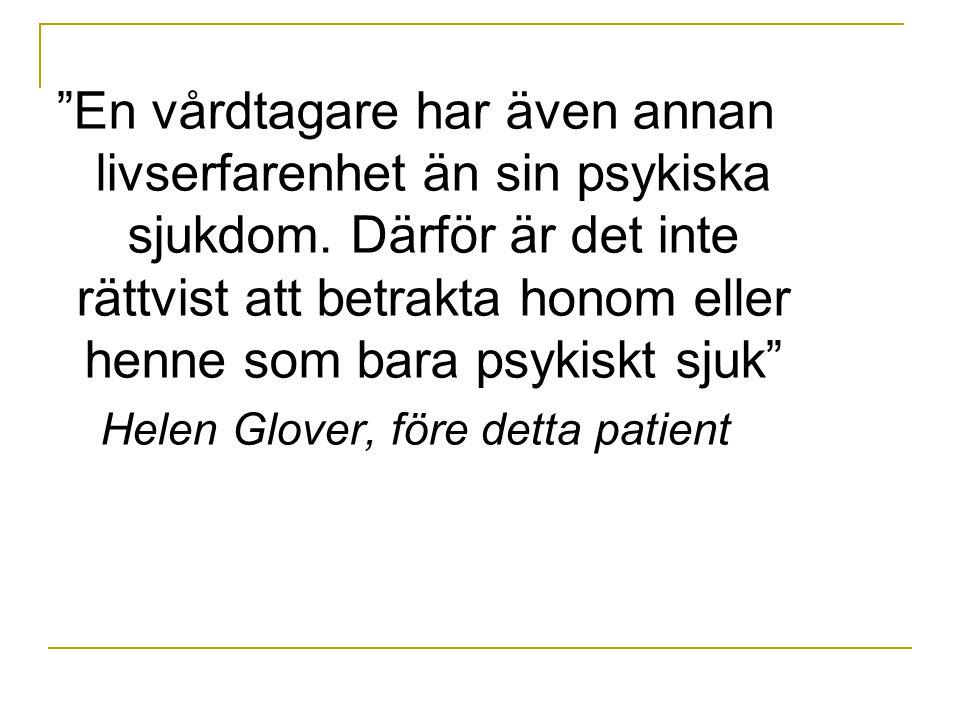 Helen Glover, före detta patient