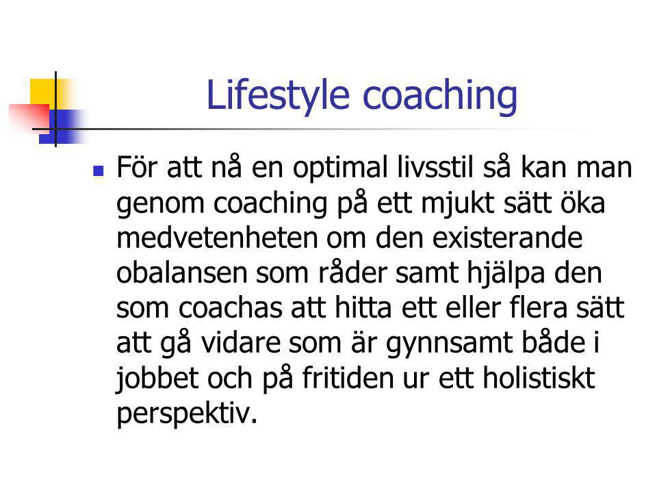 Lifestyle coaching