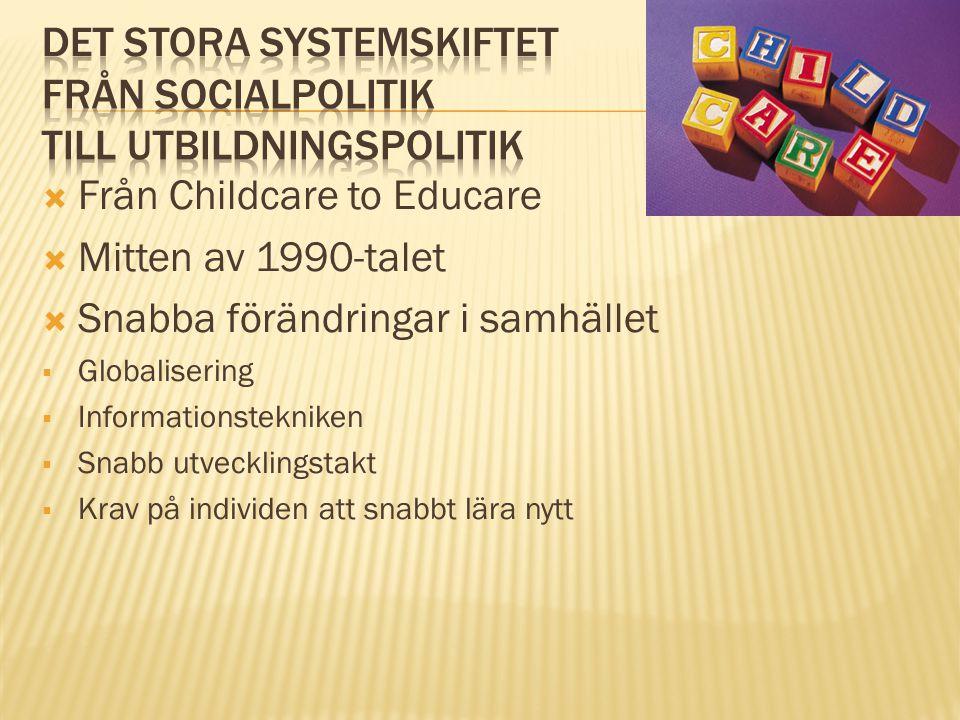 Det stora systemskiftet från socialpolitik till utbildningspolitik