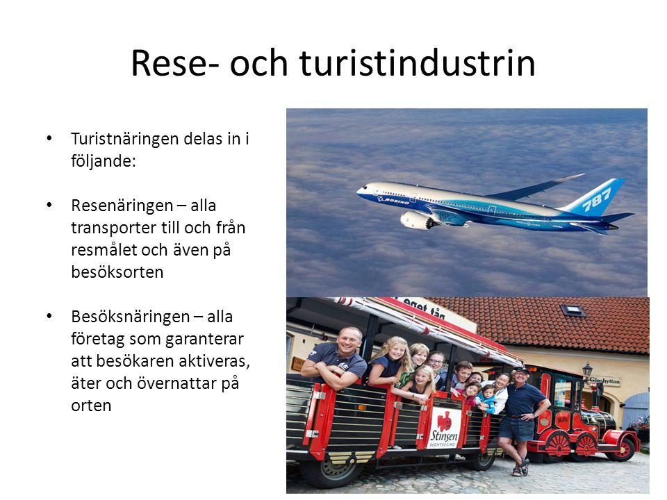 Rese- och turistindustrin