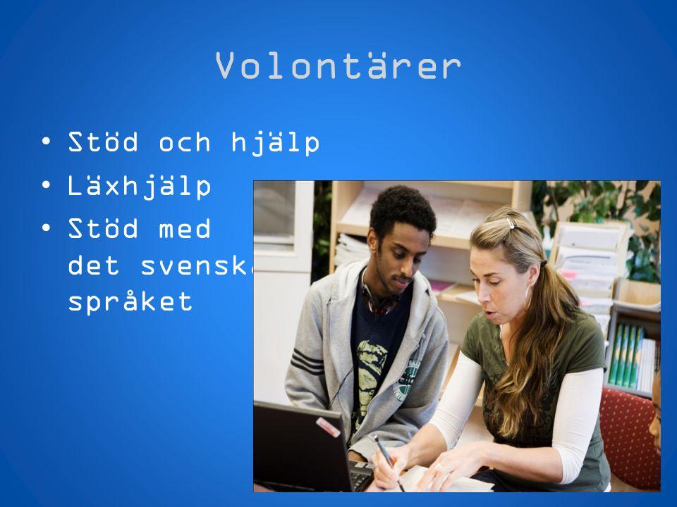 Volontärer Stöd och hjälp Läxhjälp Stöd med det svenska språket