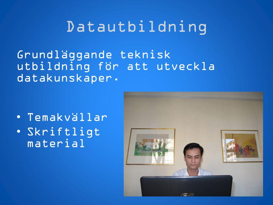 Datautbildning Grundläggande teknisk utbildning för att utveckla datakunskaper.
