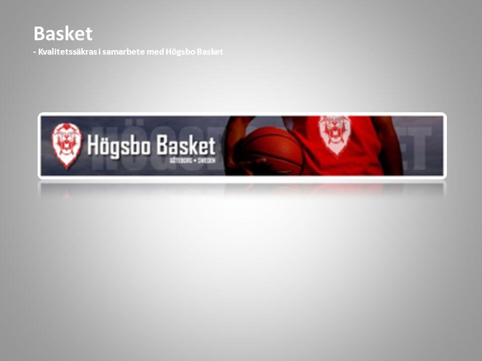 Basket - Kvalitetssäkras i samarbete med Högsbo Basket