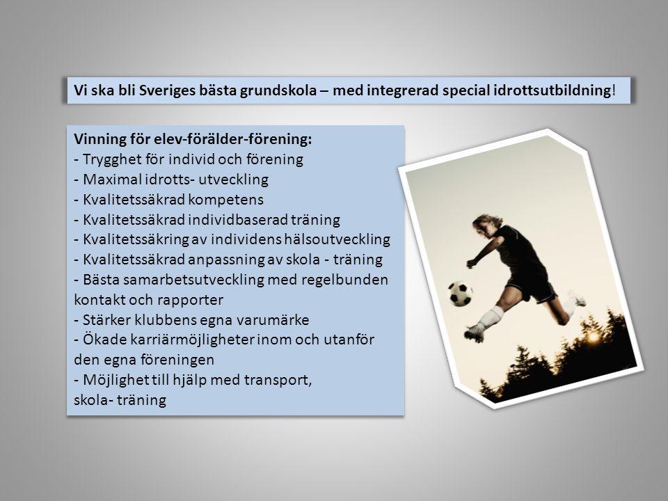 Vi ska bli Sveriges bästa grundskola – med integrerad special idrottsutbildning!