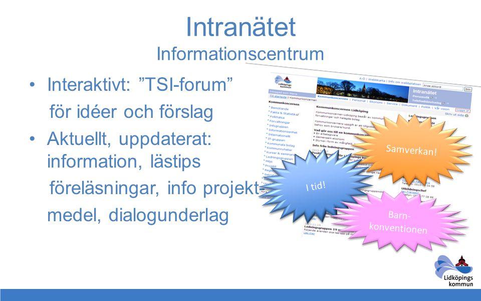 Intranätet Informationscentrum