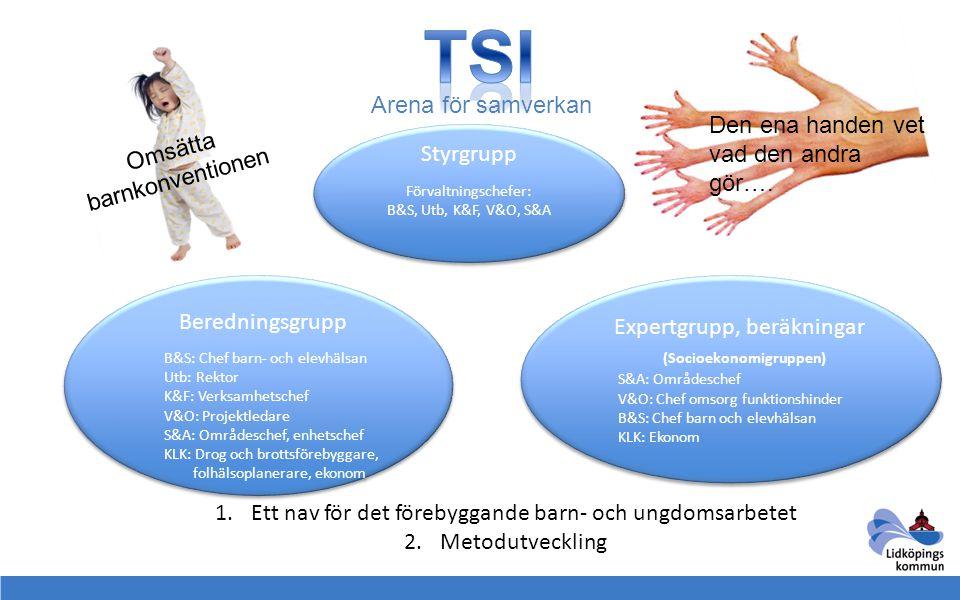 TSI Arena för samverkan Den ena handen vet vad den andra gör….