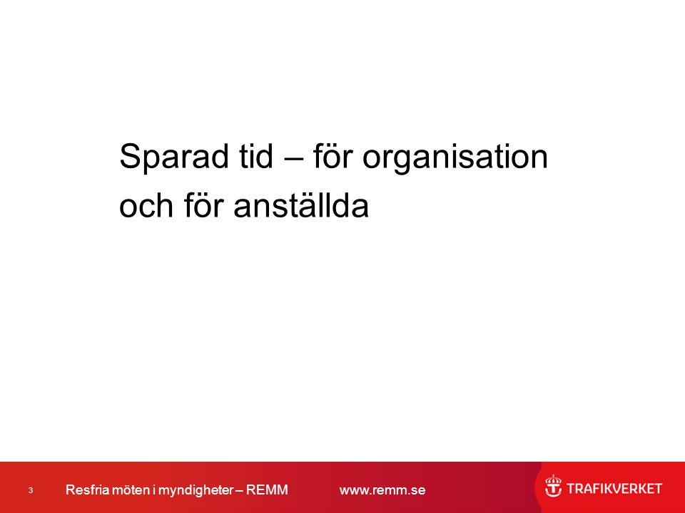 Sparad tid – för organisation och för anställda