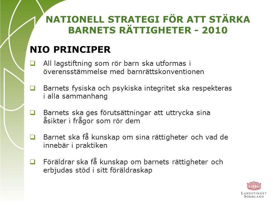 NATIONELL STRATEGI FÖR ATT STÄRKA BARNETS RÄTTIGHETER - 2010