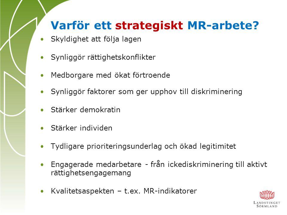 Varför ett strategiskt MR-arbete