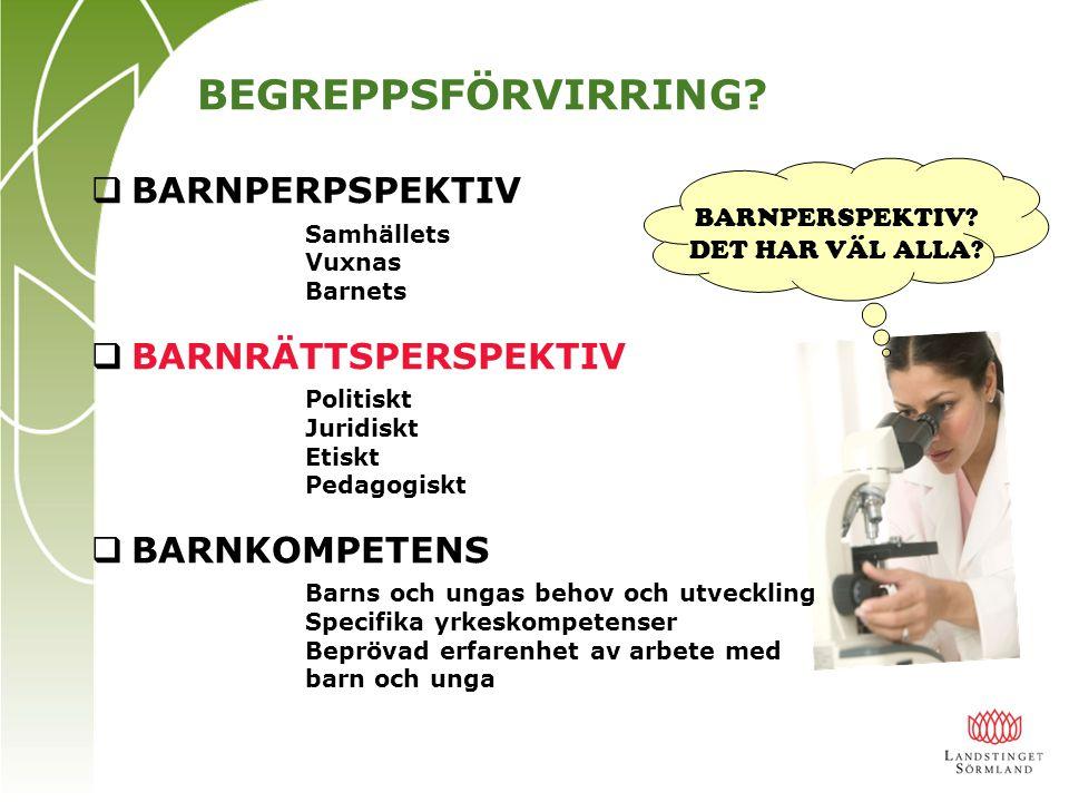 BARNPERSPEKTIV DET HAR VÄL ALLA