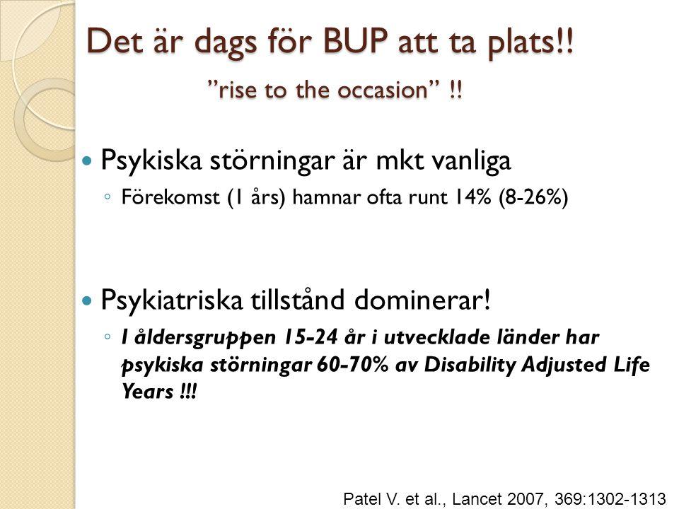 Det är dags för BUP att ta plats!! rise to the occasion !!