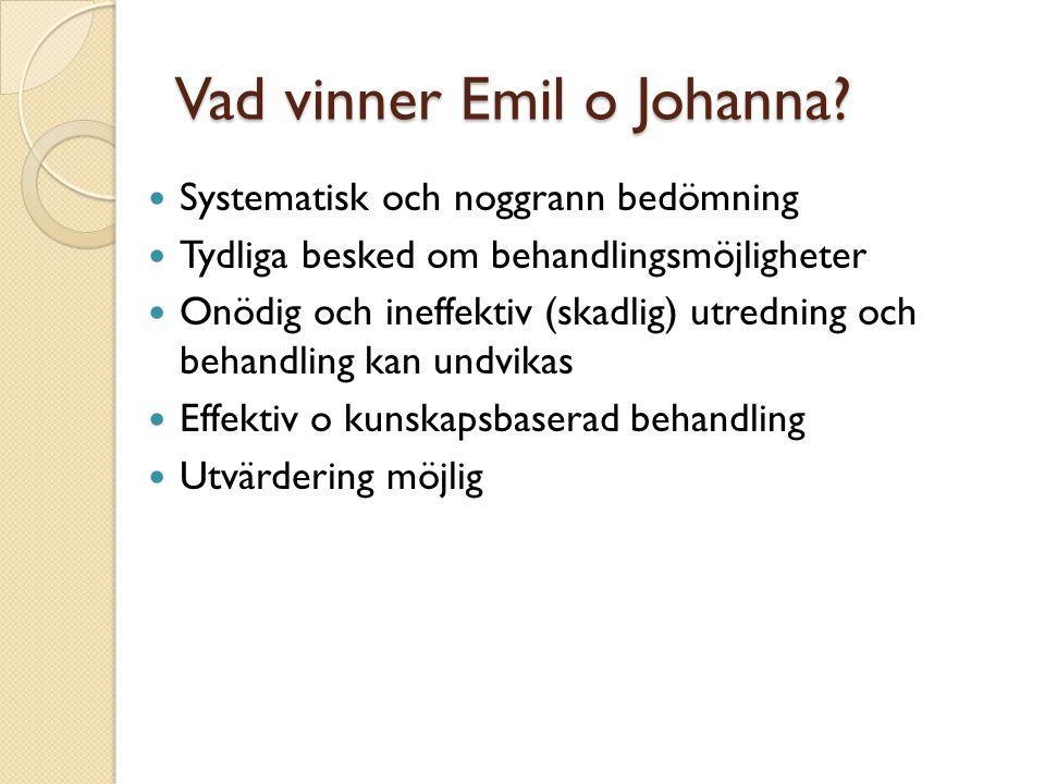 Vad vinner Emil o Johanna