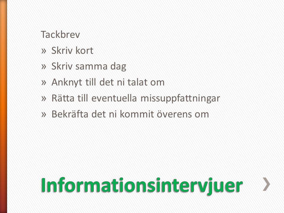 Informationsintervjuer