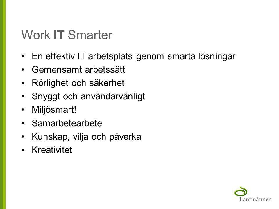 Work IT Smarter En effektiv IT arbetsplats genom smarta lösningar