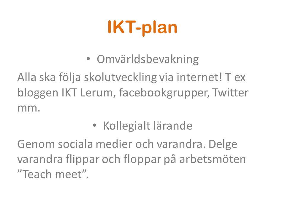 IKT-plan Omvärldsbevakning