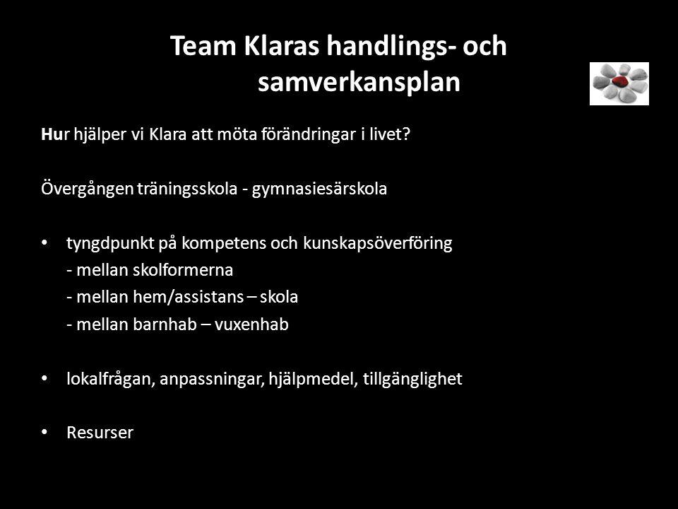 Team Klaras handlings- och samverkansplan