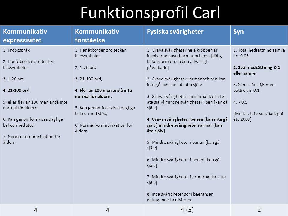 Funktionsprofil Carl Kommunikativ expressivitet