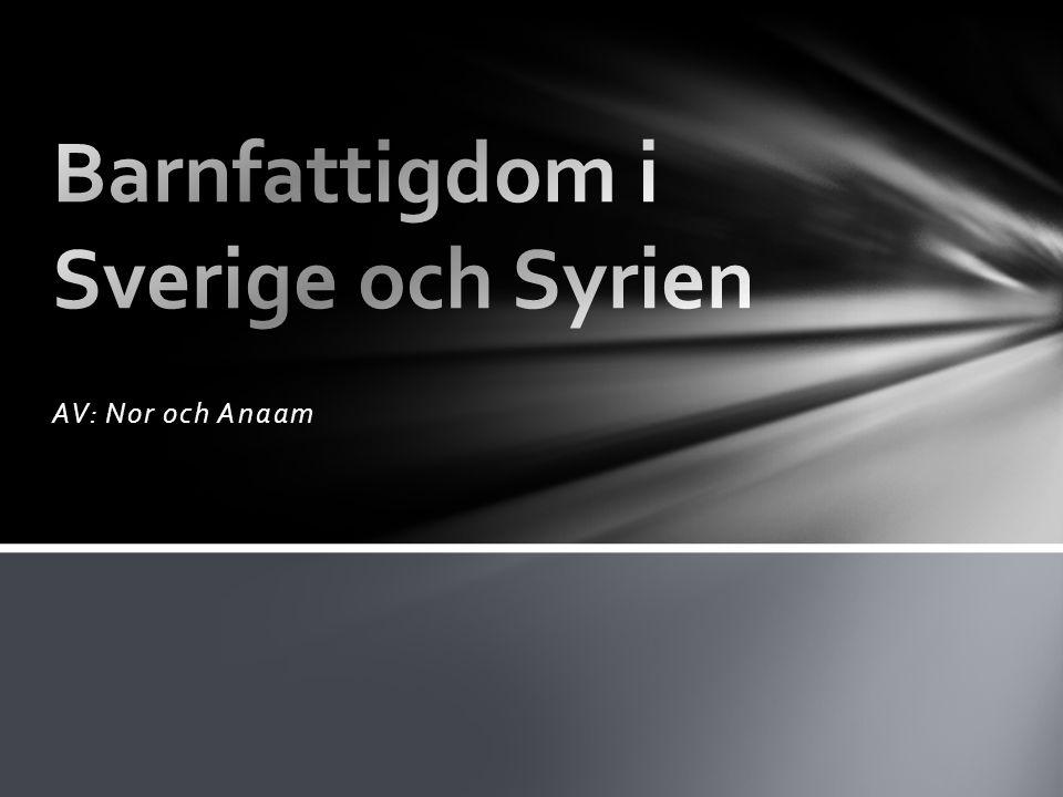 Barnfattigdom i Sverige och Syrien